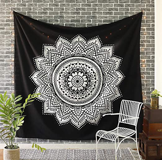Indin Black Forest Tree Bed Cover Wall Hanging Tapestry Bedspread Blanket Decor