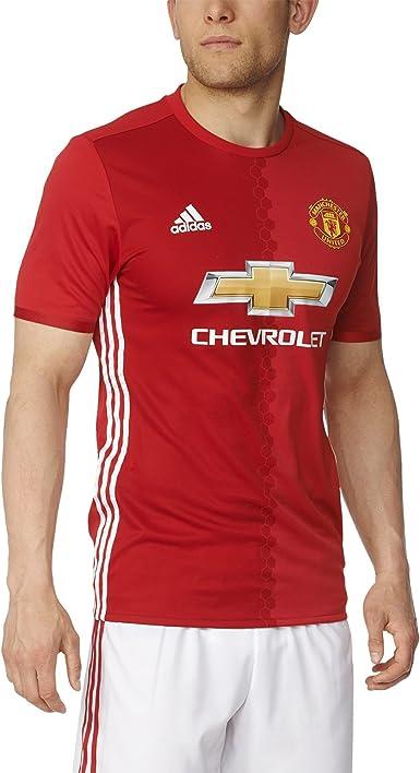 adidas Manchester United Heimtrikot Authentic Camiseta de fútbol, Hombre: Amazon.es: Deportes y aire libre