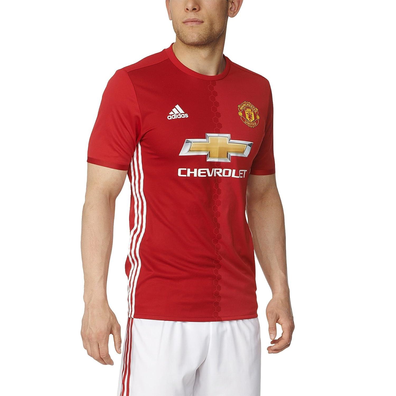 adidas Men's Manchester United Authentic Home Jersey Football Shirt, Men, Manchester United Heimtrikot Authentic, RearedpowredWhite