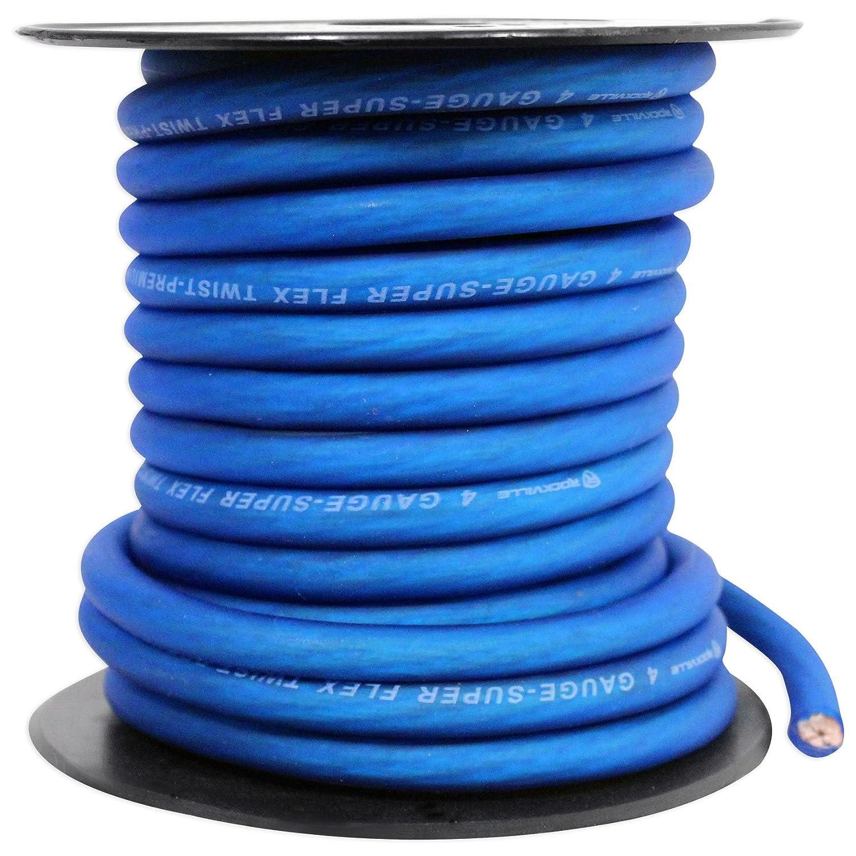 Rockville R4G40R Red 4 AWG Gauge 40 Foot Car Amp Power//Ground Wire Spool Audiosavings