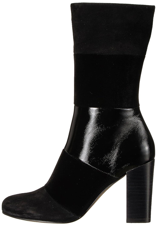 The Fix Women's Skylar Mid-Shaft Material-Block Fashion Boot B074JP8YS5 9 B(M) US|Black Mixed Material