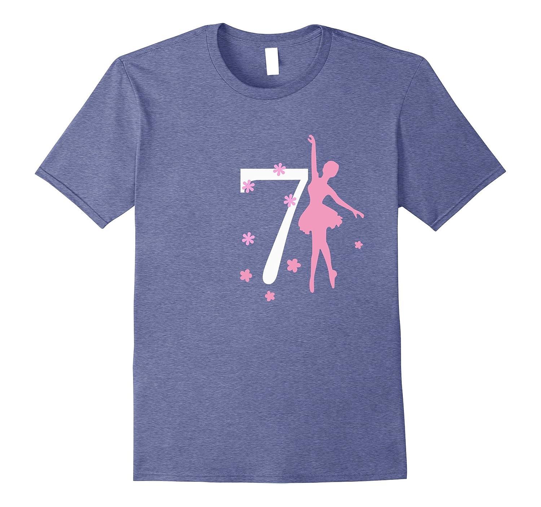 7 Birthday Ballerina Birthday T-shirt-CD