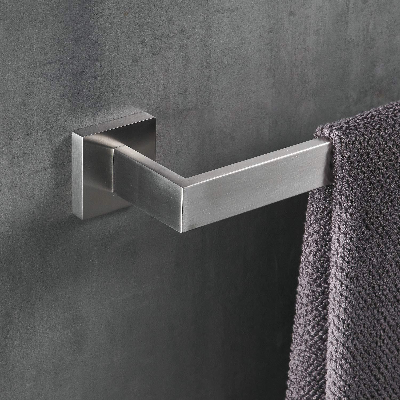 60 cm Badezimmer Handtuchhalter aus Edelstahl Chrom Handtuchstange Doppelt