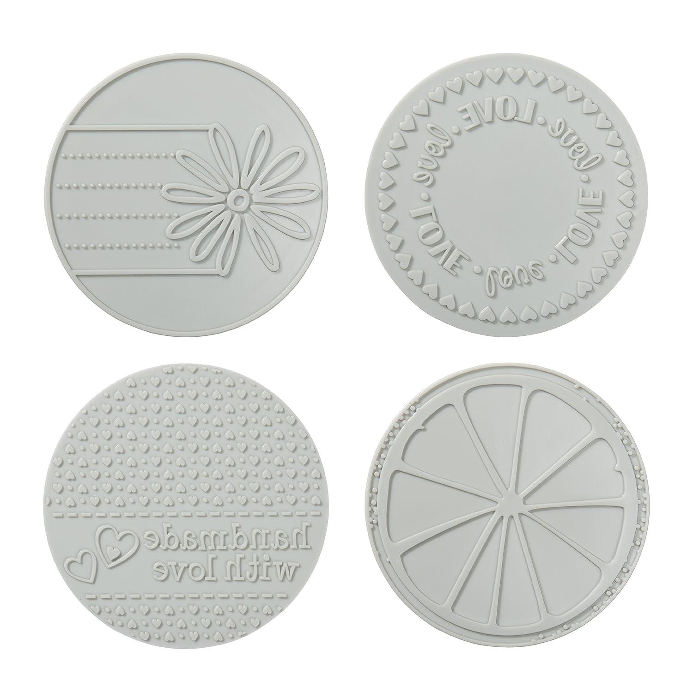 Fiskars 100860-1001 Circle Design Plate Expansion Pack, Medium, 4-Pack