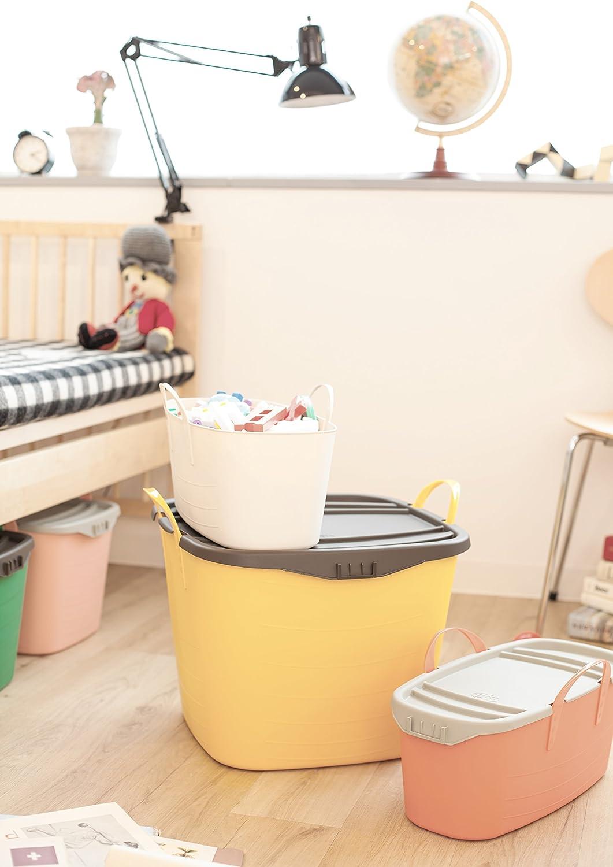 Multifonction Convient comme bac de Rangement Jouets Enfants 25L Life Story Panier en Plastique 41/×35/×34.5 cm Parfait comme bac de rangements ou Panier /à Linge
