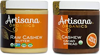 product image for Artisana Organics Raw Cashew Butter + Cashew Cacao Spread Multi-Pack