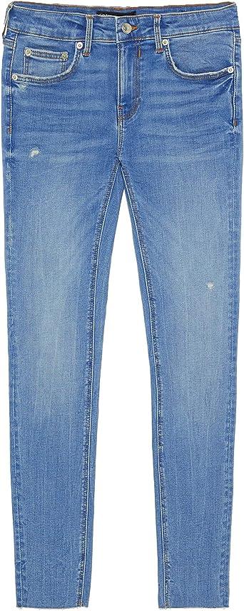 Zara 7513 051 400 Pantalones Vaqueros Para Mujer Color Azul Azul 38 Amazon Es Ropa Y Accesorios