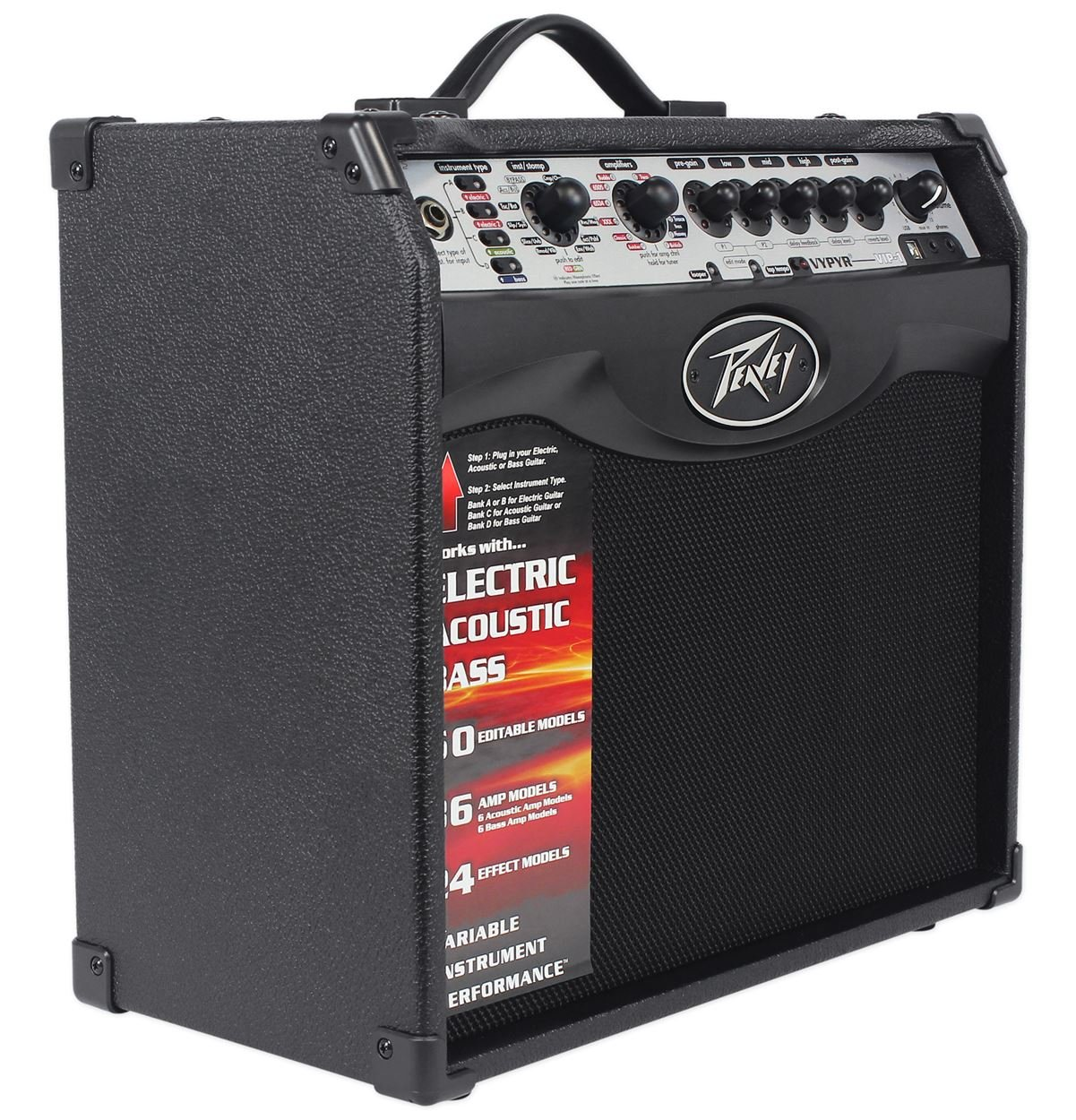Peavey Vypyr VIP 1 20 Watt 1x8 Combo Practice Guitar Amplifier+Instrument Cable by Peavey (Image #7)