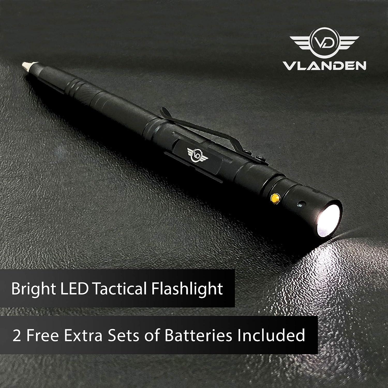 EPNT Taktisches Stift Selbstverteidigungs-/Überlebens-Gadget Multitool mit LED-Taschenlampe Fensterbrecher Schraubverschluss f/ür Outdoor /Überleben Camping Und EDC