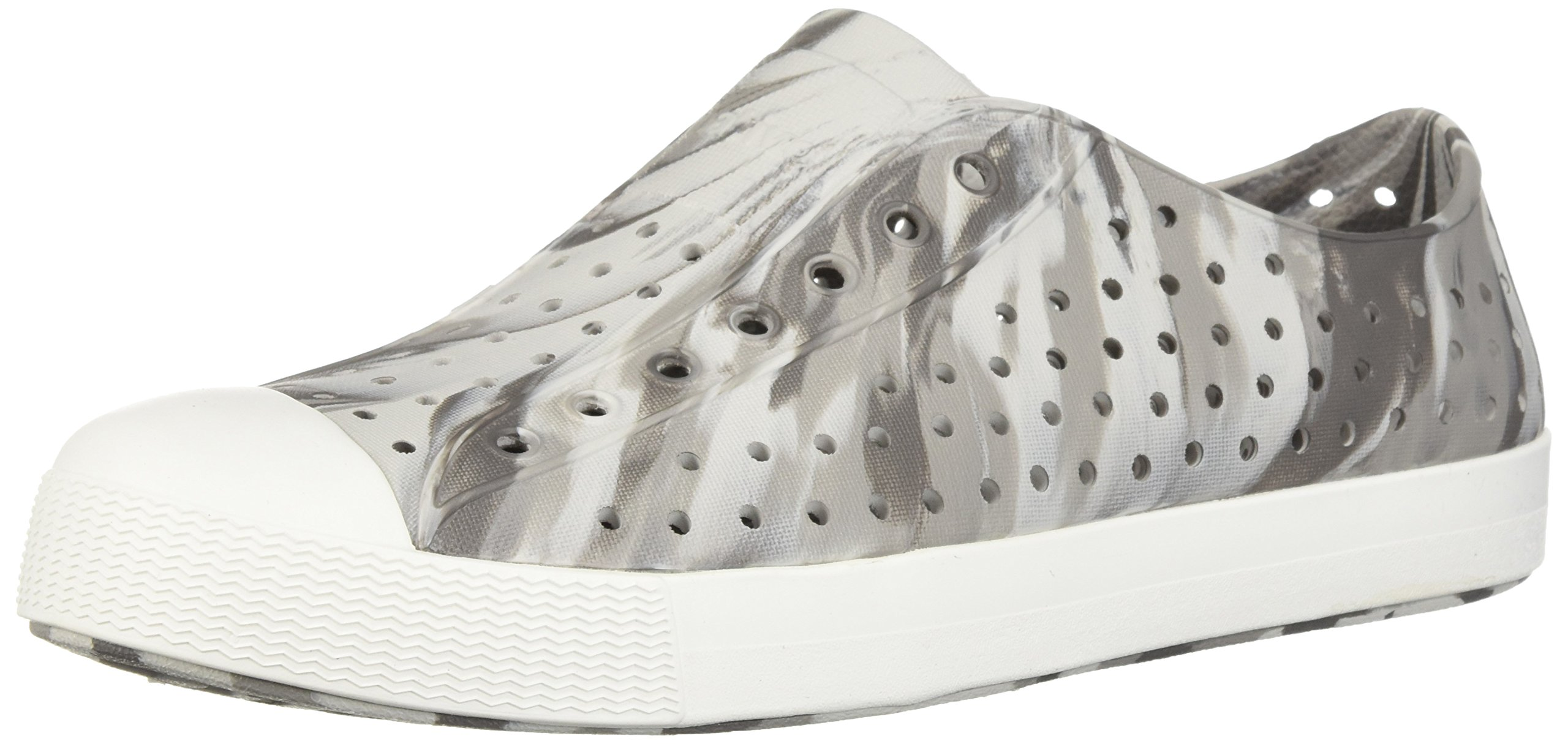 Native Kids Marbled Jefferson Water Proof Shoes, Dublin Grey/Shell White/Marbled, 5 Medium US Big Kid by Native Shoes (Image #1)