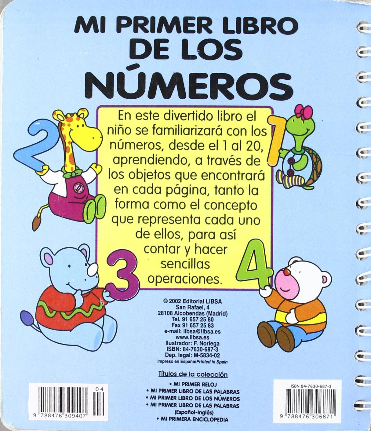 Amazon.com: Mi Primer Libro de Los Numeros (Spanish Edition) (9788476306871): Libsa: Books