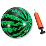 Grabley Watermelon Ball, Pump, Inflation Needle in One Set for Indoor and Outdoor Games, Fun All Around
