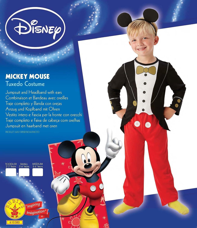 Rubies - Disfraz de Mickey Mouse con esmoquin para niños: Amazon ...