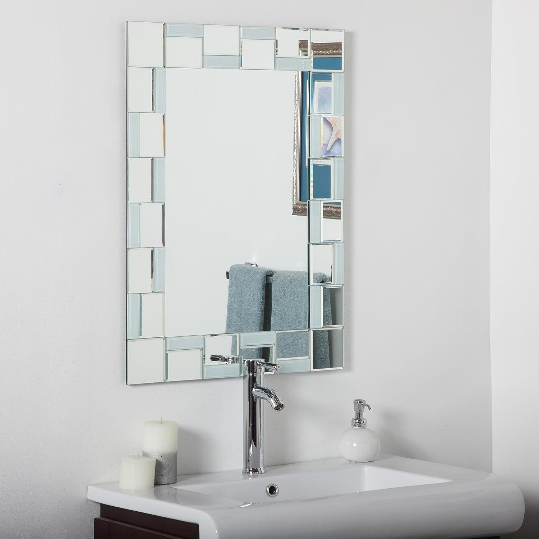 Amazon Com Decor Wonderland Quebec Modern Bathroom Mirror Home Kitchen