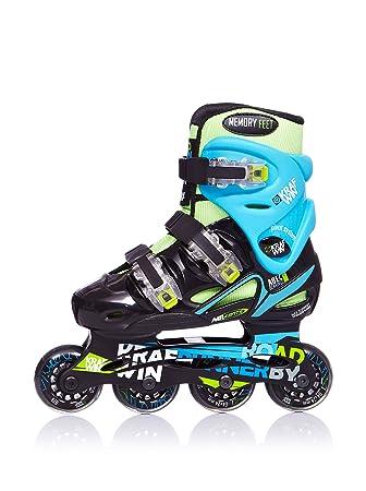 Krafwin Road Runner New - Patines en línea para niños, color verde / azul, talla 34: Amazon.es: Deportes y aire libre