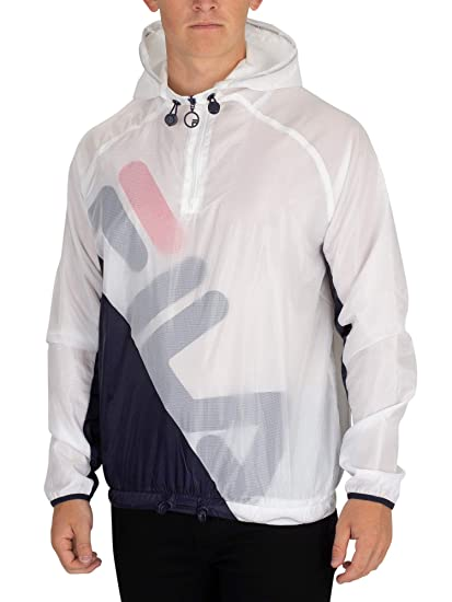 364a51275cf0 Fila Vintage Men's Cohen Shell Jacket, White: Amazon.co.uk: Clothing