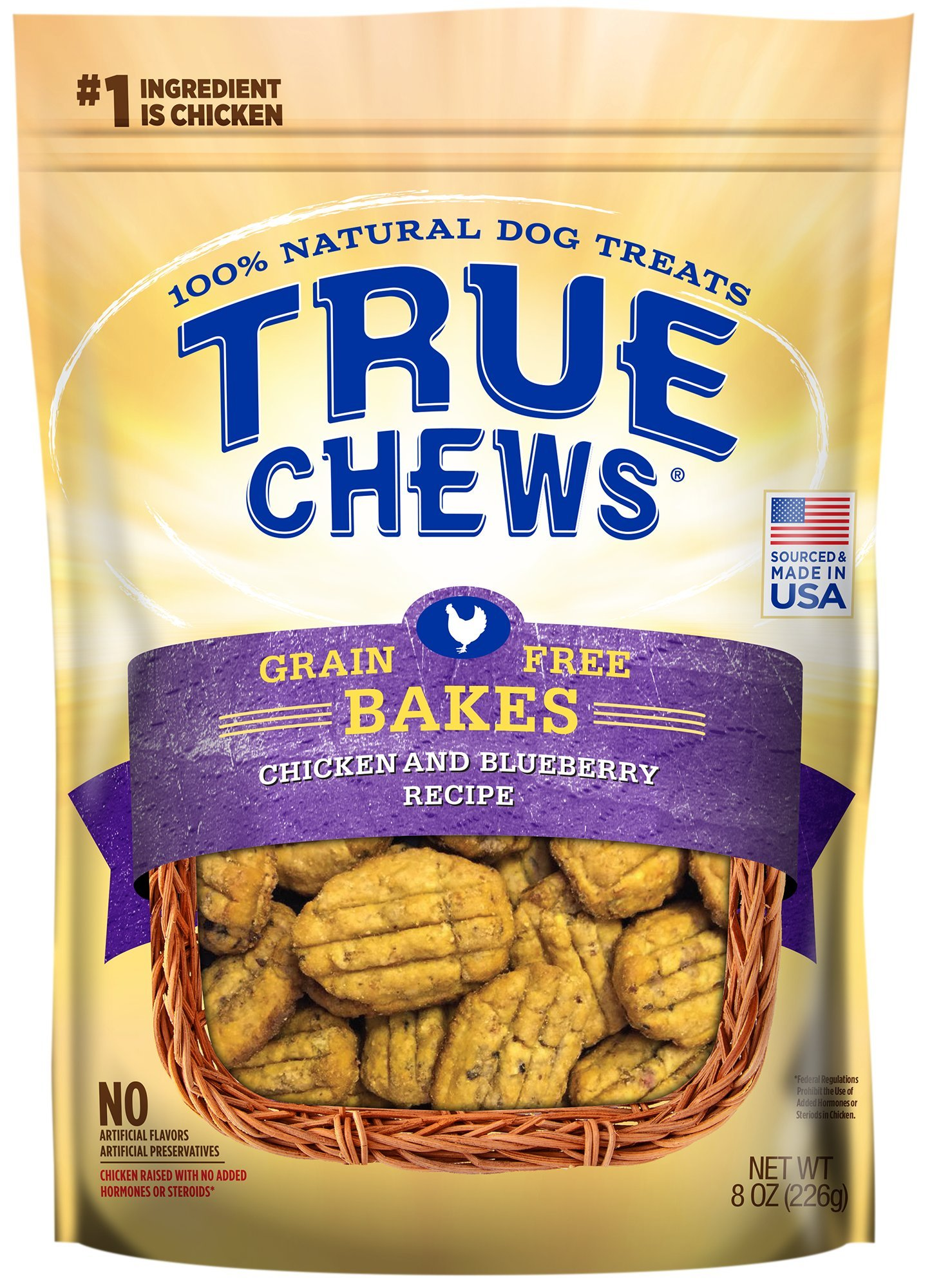 True Chews Premium Bakes - Chicken & Blueberry 8 oz