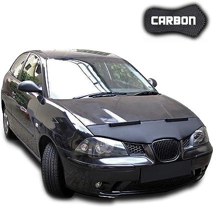 Proteccion de piedras y insectos 6L Campana deflector Protector de cap/ò Negro para Seat Ibiza 2002-2008 Protector Bonnet Bra