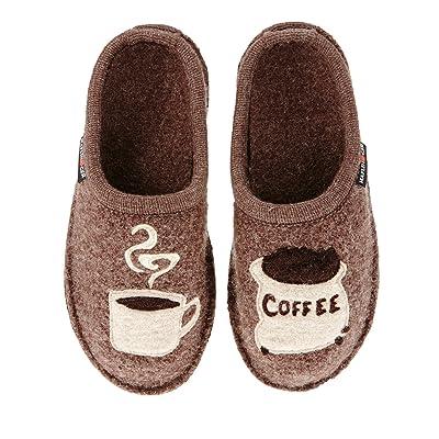 HAFLINGER Coffee Slipper - Unisex Earth 11 | Slippers