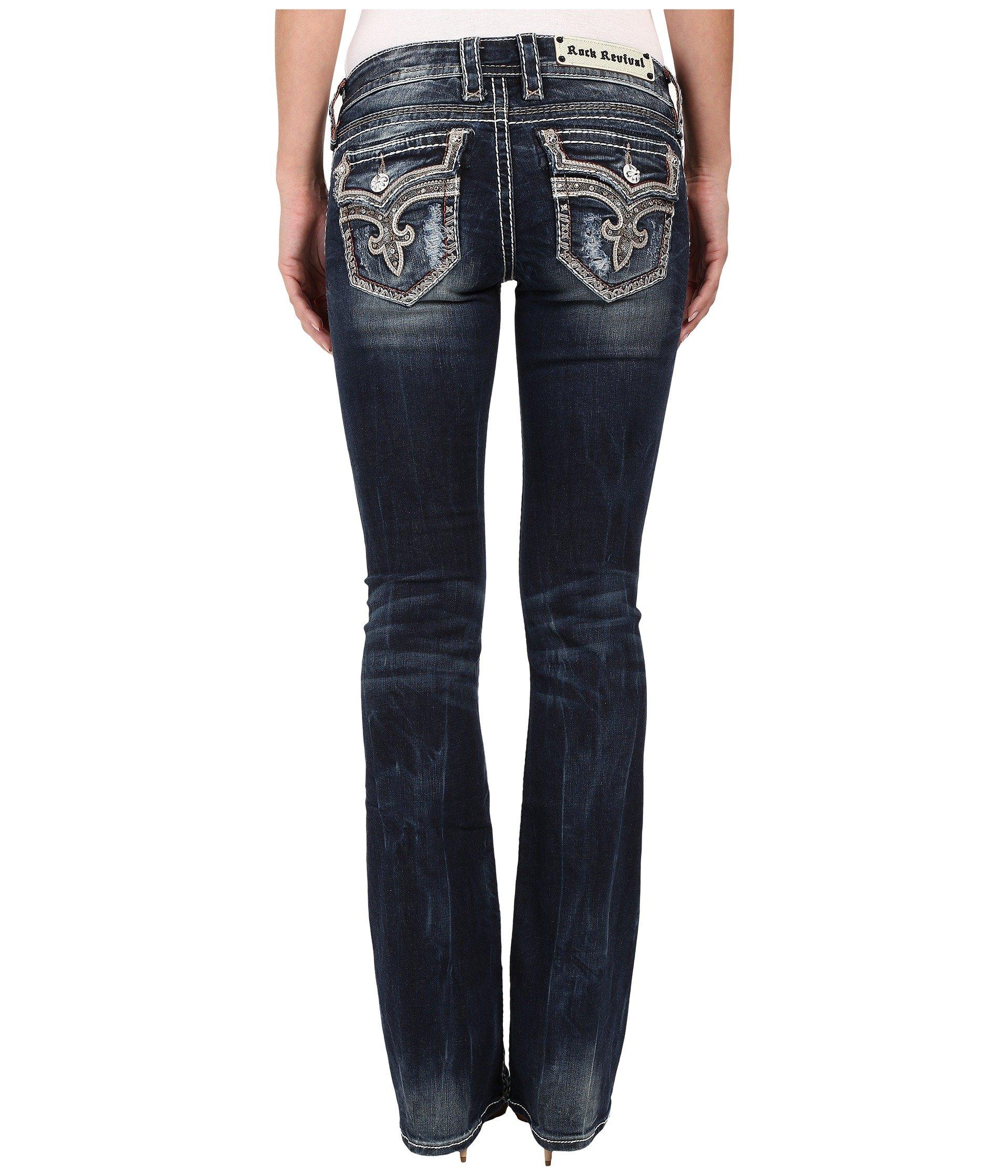 Rock Revival Women's Tibbie B2 Boot Dark Blue Jeans