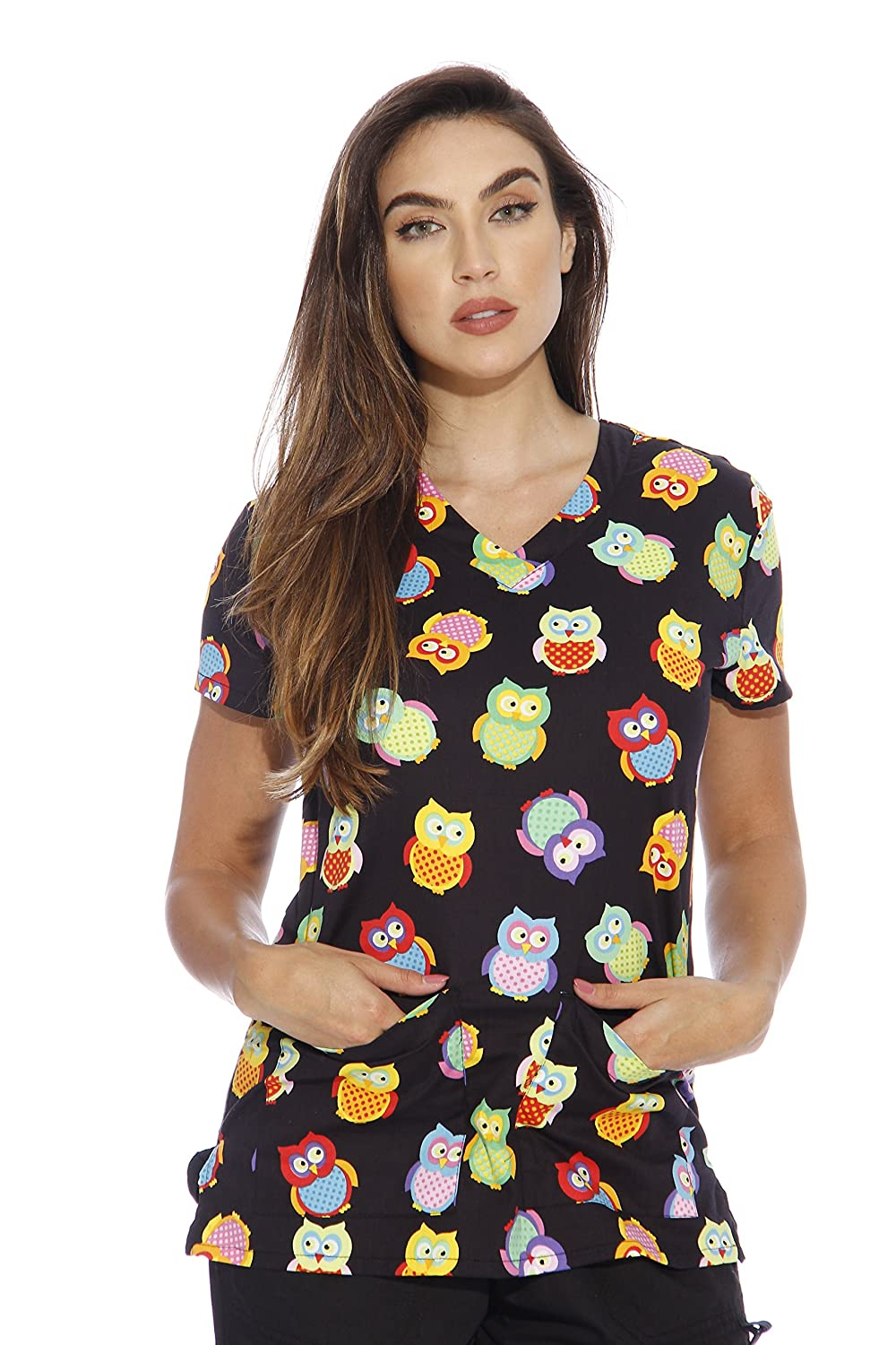 8ea182d6fd2 SPARK A SMILE: Make that doctor's office a little sunnier with these  festive scrub tops for women. Whether it's Christmas, Halloween, 4th of  July, ...
