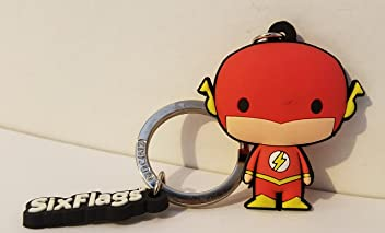 Six Flags Magic Mountain DC Comics The Flash Character Keychain
