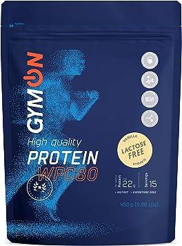 GYMON Lactose Free Whey Protein. Concentrado de proteína de suero de leche, 450g (Vainilla)