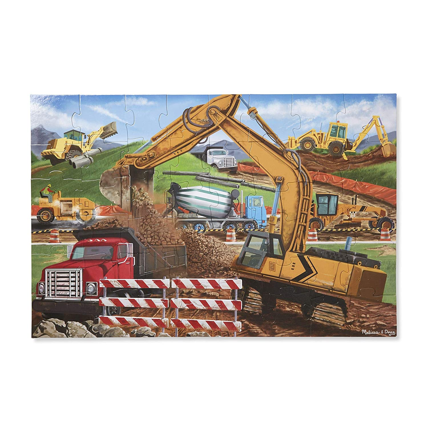 Melissa Doug Building Site Jumbo Jigsaw Floor Puzzle 48 pcs 2 x 3 feet long