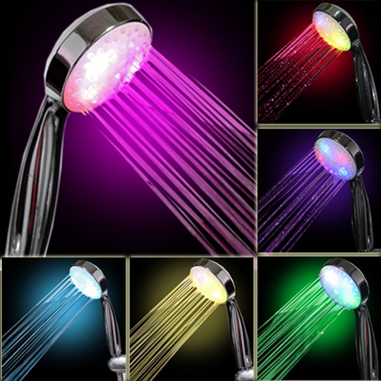 7/colori LED soffione Light Handheld romantico LED bagno colorato doccia Colorato