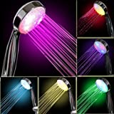 InteTech Led Light Shower,7 Colour Changing Shower Head LED Light Up Automatically Rainfall Bathroom Showerhead Adjustable Shower (multicolor)