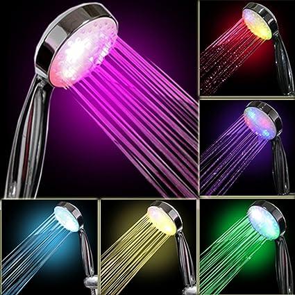 Soffione Doccia Led Multicolore.Intetech Led Luce Doccia 7 Colore Multicolore Misura Universale