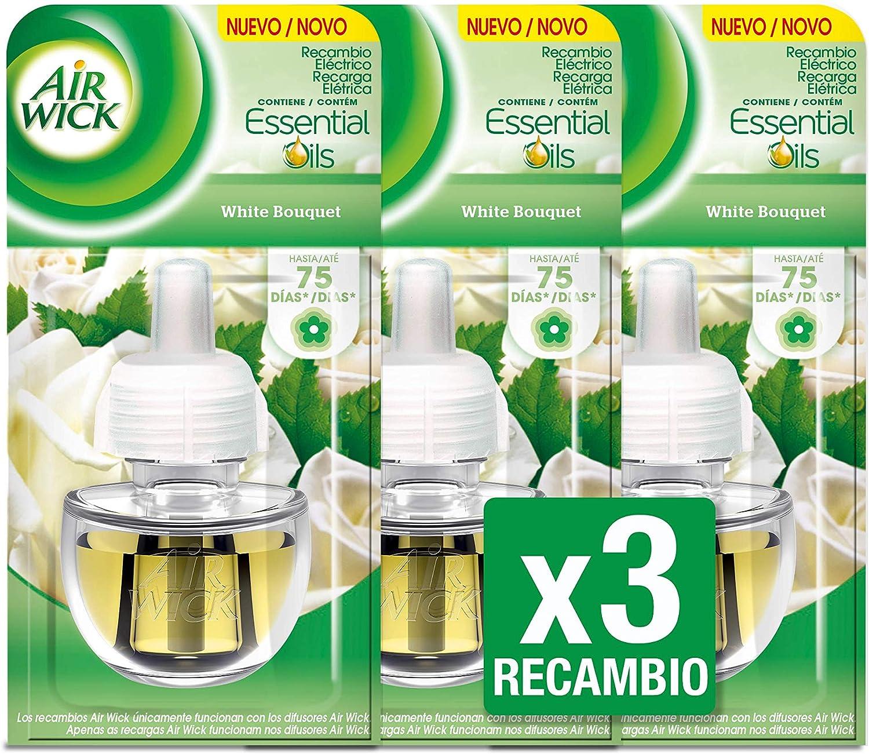 Air Wick White Bouquet - Ambientador eléctrico, recambio, 3 unidades x 19 ml, total de 57 ml