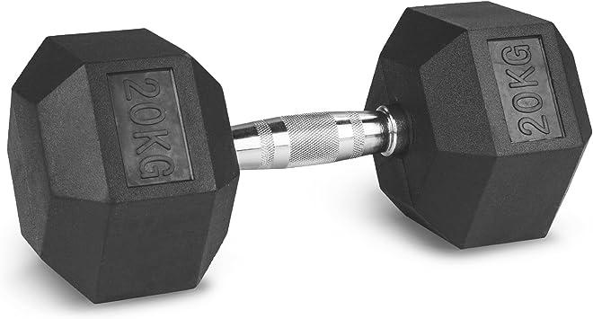 5-30 kgrutschsicher ummanteltergo Paar MSPORTS Hexagon-Hanteln Premium