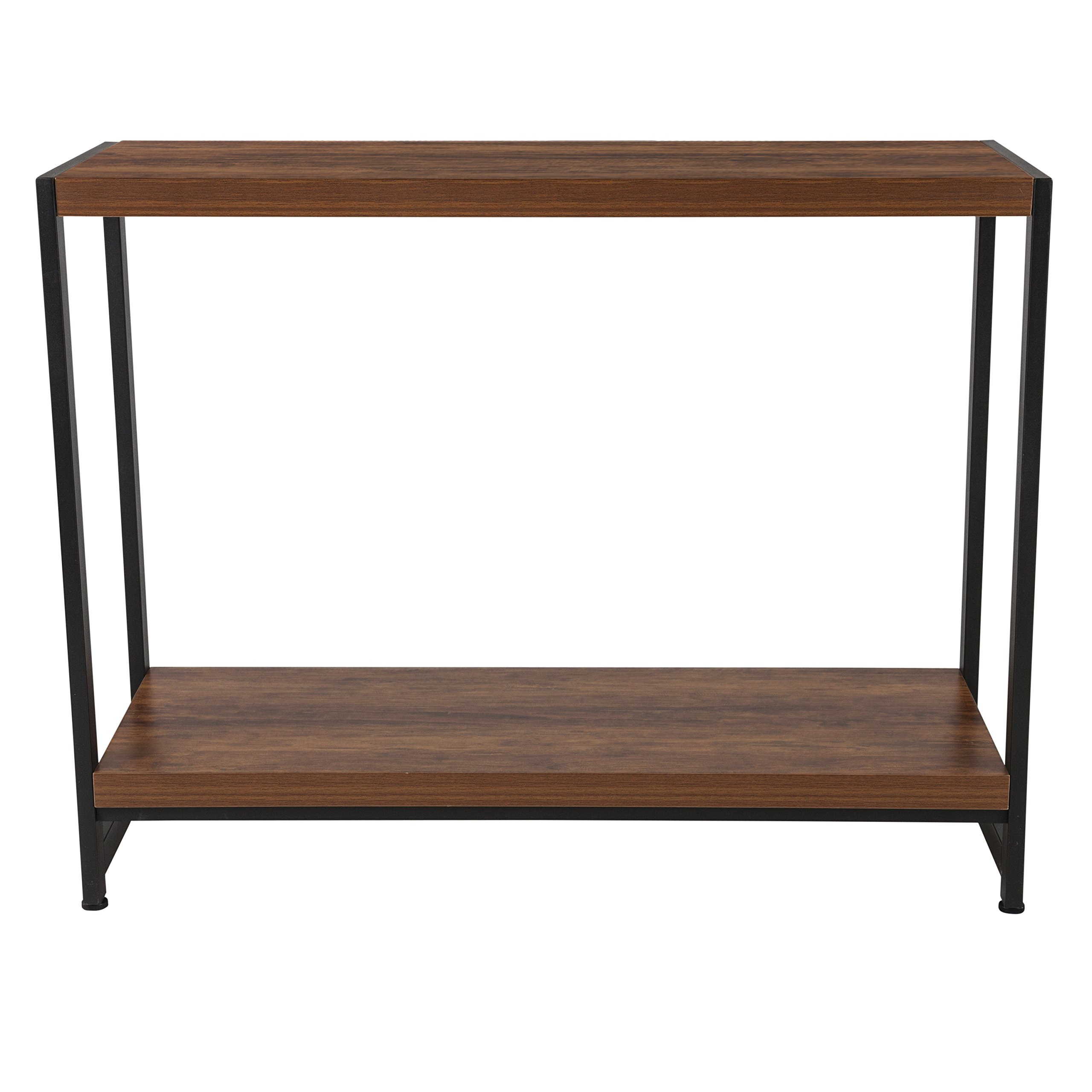 Flash Furniture Grove Hill Collection Rustic Wood Grain Finish Console Table with Black Metal Frame by Flash Furniture (Image #2)