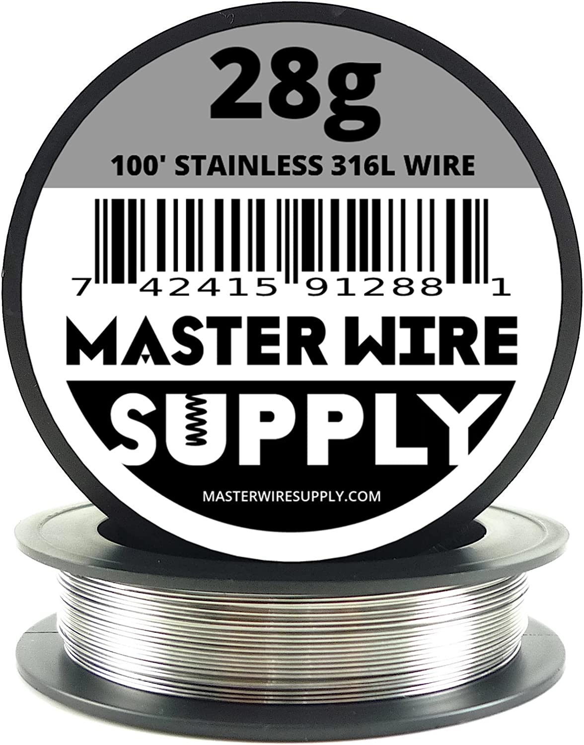 Stainless Steel 316L - 100' - 28 Gauge Wire