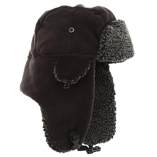 10d27abc478a12 Amazon.com: EX-Stores Unisex Mens/Womens Fleece Trapper Hat, Ski Hat ...
