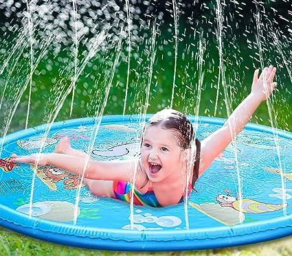 "Amazon.com: Mirooyu Splash Pad, 68"" Splash Play Mat for Children ..."