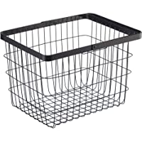 YAMAZAKI home Laundry Basket Medium Storage Hamper, Black