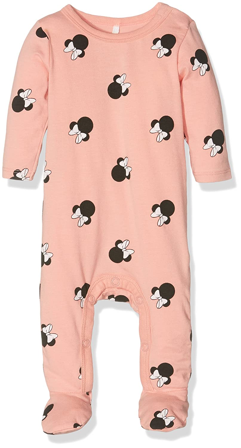 Name It Baby Girls' Nitminnie Aine Ls Bodysuit Mznb Wdi Footies Multicoloured (Rose Tan) 68 13139450