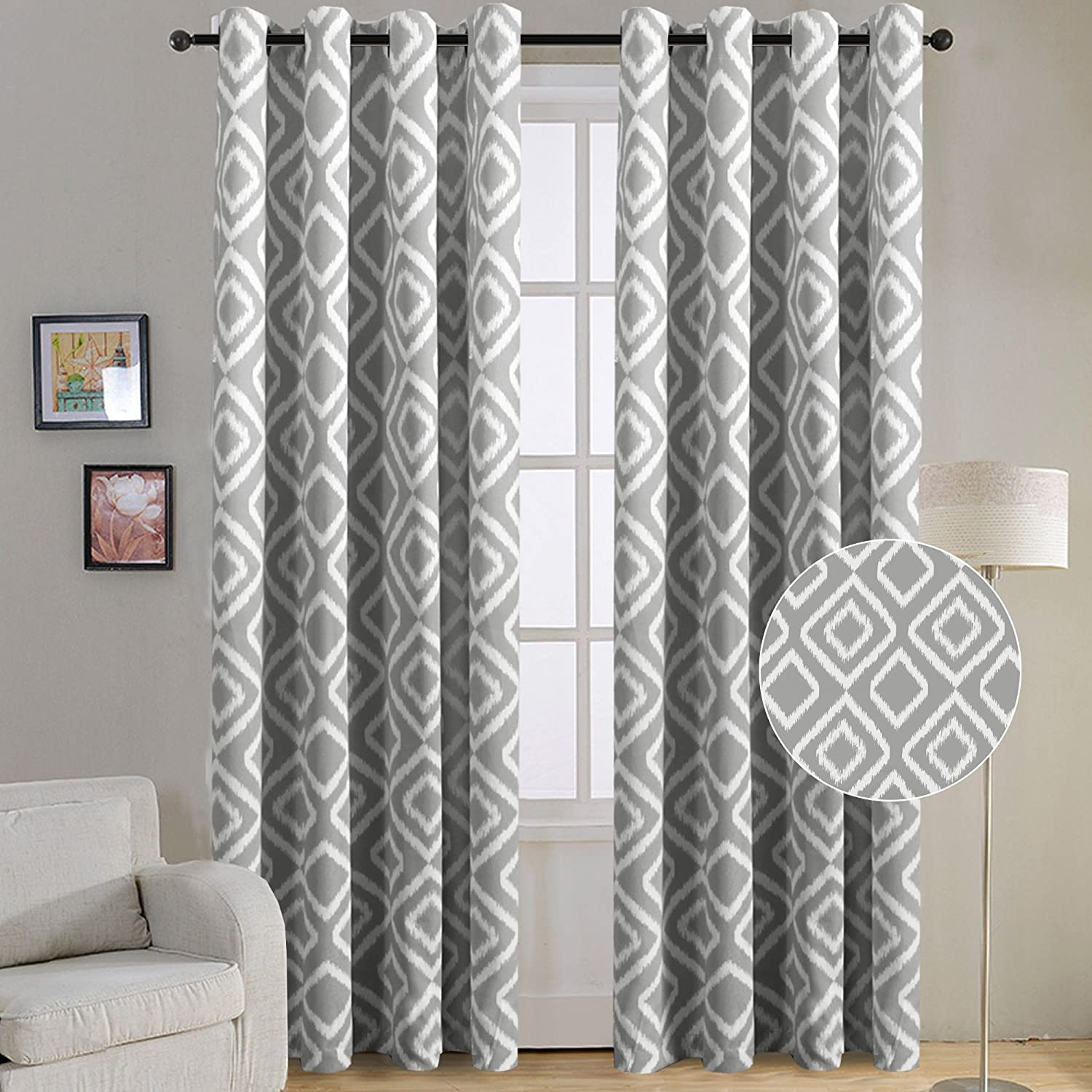 Blackout Curtains Panels for Bedroom by Flamingo P