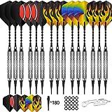 CyeeLife 15 Packs Soft tip Darts Set 18g,100 Extra Tips+Dart Tool+15 Aluminum shafts+20 Flights,Professional Plastic tip Dart