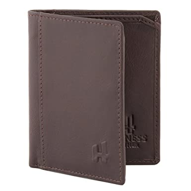 Harness Leather Slimline Wallet Brown: Amazon.co.uk: Shoes & Bags