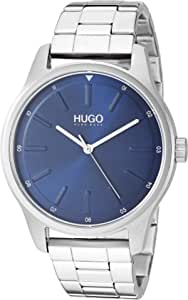 HUGO by Hugo Boss Men's Quartz Watch with Stainless Steel Strap, White, 20 (Model: 1530020)