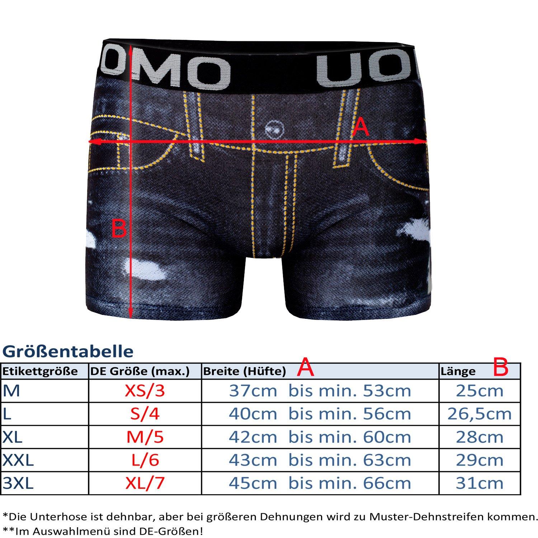 e4ff0f205e8e2 Bongual 4St Herren Hipster Unterhose Baumwolle Trunk Retroshorts Jeans  Optik  Amazon.de  Bekleidung