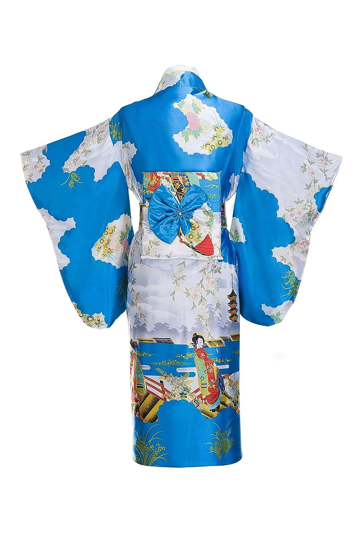 Amazon.com: Yukata preciosa bata tipo kimono tradicional ...