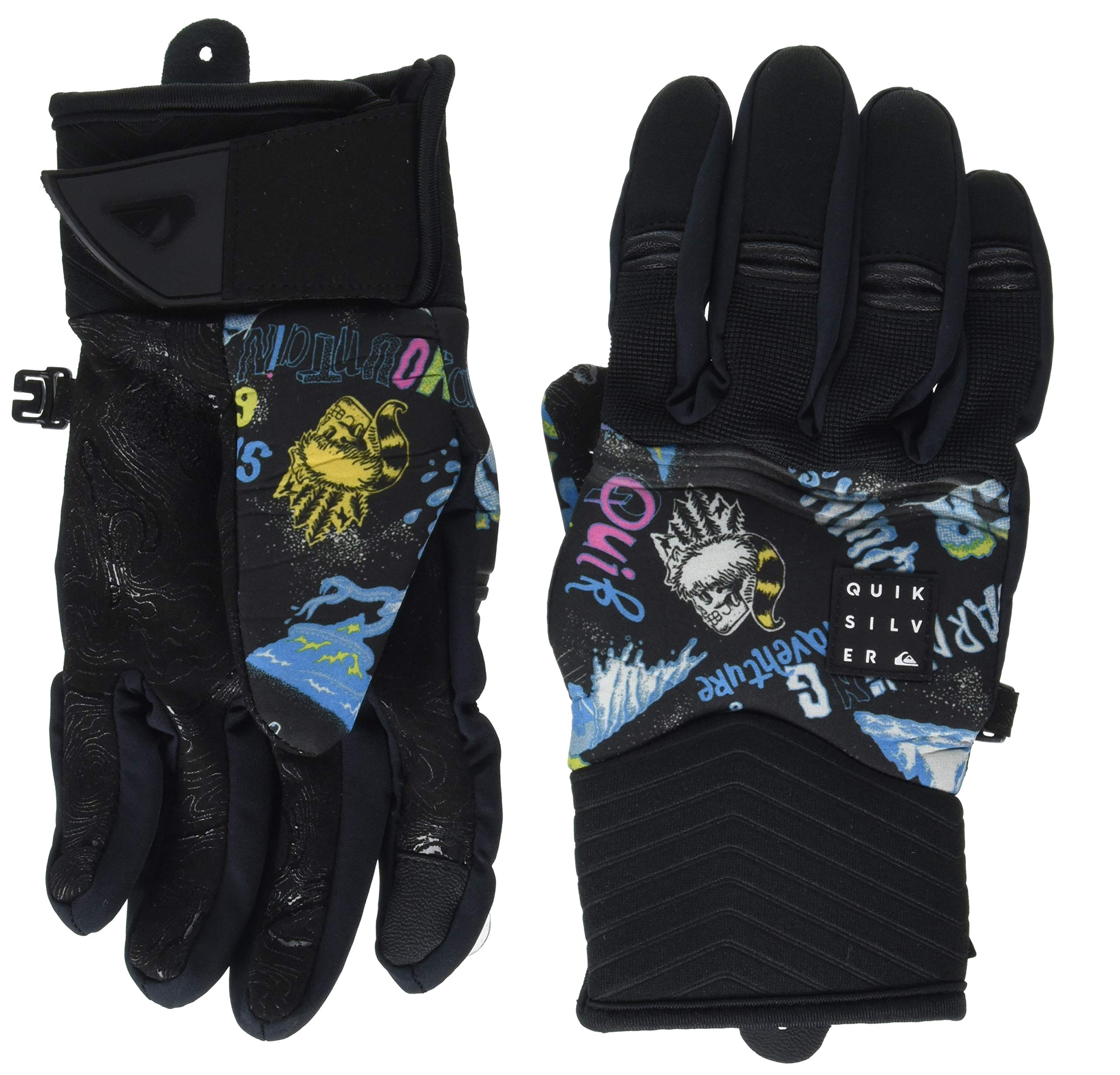 Quiksilver Boys' Big Method Youth TECH Snow Glove, Daphne Blue a Day at The Mount, M