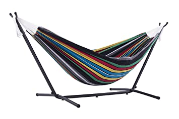 vivere double hammock with space saving steel stand rio night amazon     vivere double hammock with space saving steel stand      rh   amazon