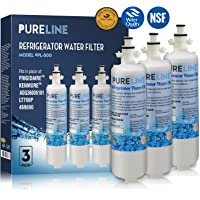 Pure Line LT700P Compatible Refrigerator Replacement Water Filter, Also Compatible LT700P, ADQ36006101, ADQ36006102, Kenmore 469690, 9690, WSL-3,WF700 (3 Pack)