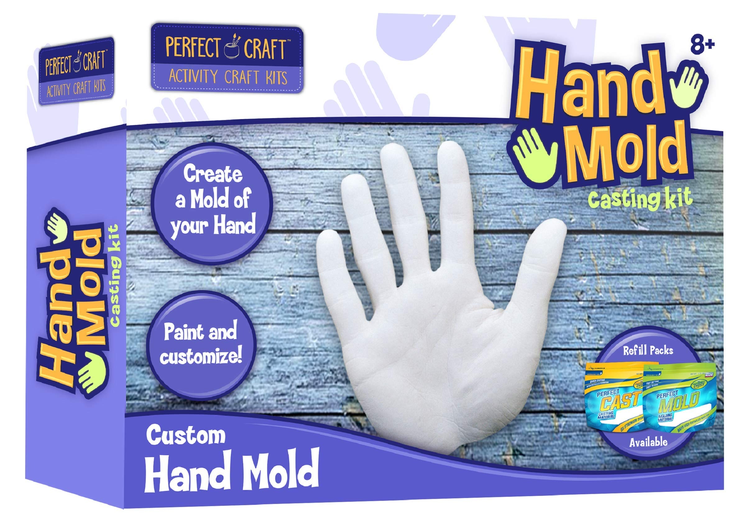 Perfect Craft Cast Paint Hand Mold Kit With Perfect Cast Casting Material Buy Online In Cayman Islands At Cayman Desertcart Com Productid 122166915