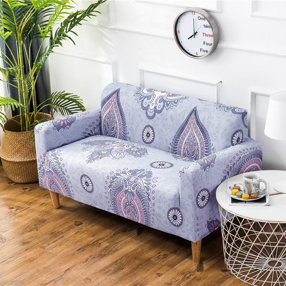 Amazon.com: 77A Floral Printed Sofa Slipcover, Spandex ...